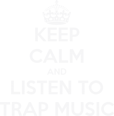 Принт Женская майка KEEP CALM and LISTEN TO TRAP MUSIC - FatLine
