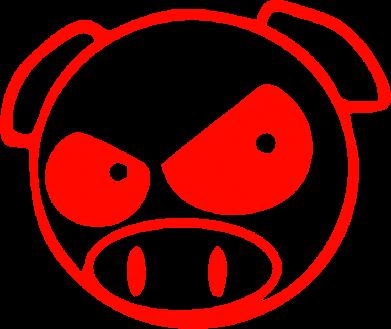Принт кепка Злая свинка - FatLine