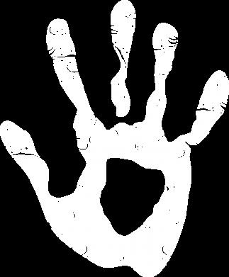 Принт Женская футболка с V-образным вырезом Отпечаток руки - FatLine