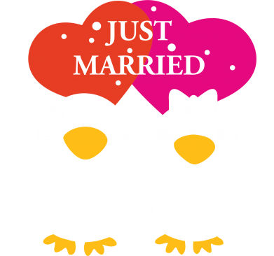Принт Штаны Just Married - FatLine
