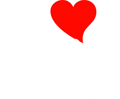 Принт Футболка Поло I love my boyfriend - FatLine