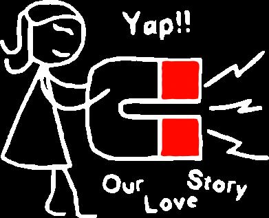 Принт Мужская толстовка на молнии Our love story2 - FatLine