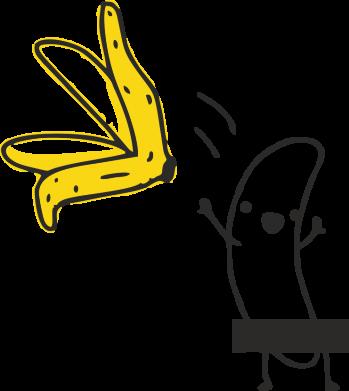 Принт Футболка Поло Голый банан - FatLine