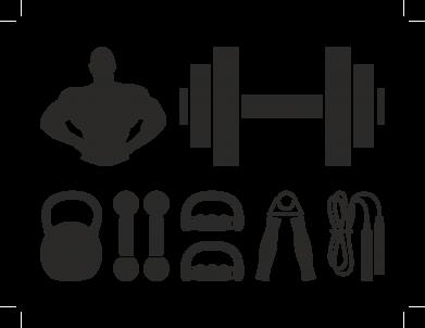 Принт Тельняшка с длинным рукавом Набор спортсмена - FatLine