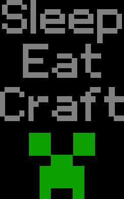 Принт Мужская футболка  с V-образным вырезом Sleep,eat, craft - FatLine