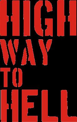 Принт Футболка Поло High way to hell - FatLine