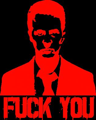 Принт Коврик для мыши fuck you (бойцовский клуб) - FatLine