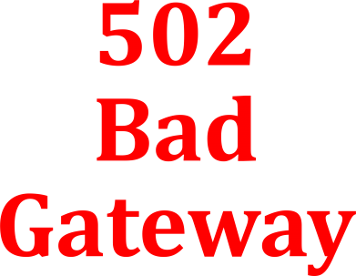 Принт Сумка 502 Bad Gateway - FatLine