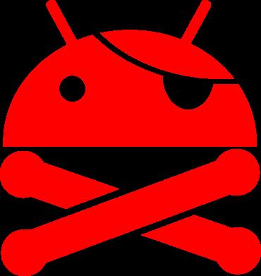 Принт Коврик для мыши Android Pirate - FatLine