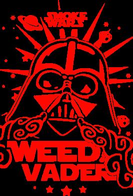 Принт Футболка Поло Weed Vader - FatLine