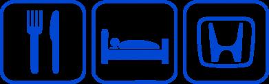 Принт Кружка 320ml Eat Sleep Honda - FatLine