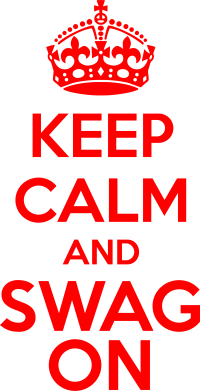 Принт Подушка KEEP CALM and SWAG ON - FatLine