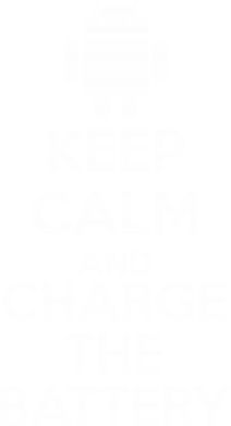 Принт Майка-тельняшка KEEP CALM and CHARGE BATTERY - FatLine