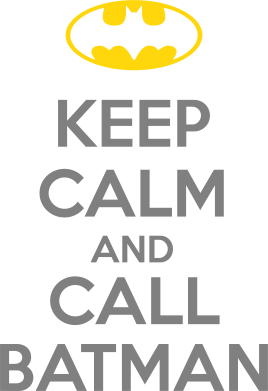 Принт Футболка KEEP CALM and CALL BATMAN - FatLine