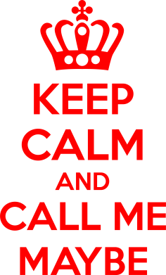 Принт Подушка KEEP CALM and CALL ME MAYBE - FatLine
