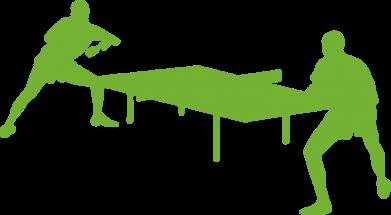 Принт Коврик для мыши Теннисный стол - FatLine