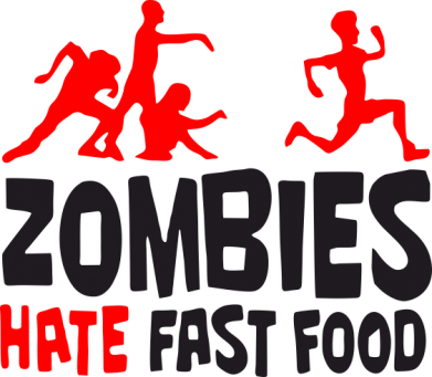 Принт Фартук Zombies hate fast food - FatLine