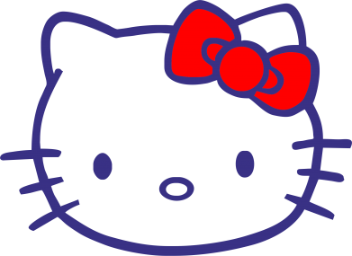 Принт Подушка Hello Kitty logo - FatLine