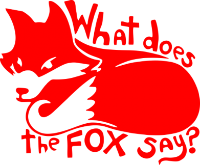 Принт Подушка What does fox say? - FatLine