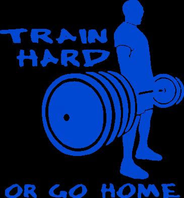 Принт Женская майка Train Hard or Go Home - FatLine