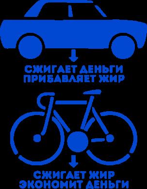 Принт Подушка Сравнение велосипеда и авто - FatLine