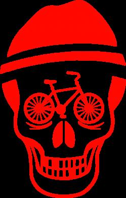 Принт Коврик для мыши Череп велосипедиста - FatLine