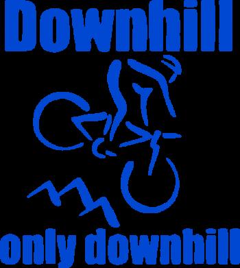 Принт Коврик для мыши Downhill,only downhill - FatLine