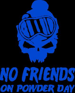 Принт Детская футболка No friends on powder day - FatLine