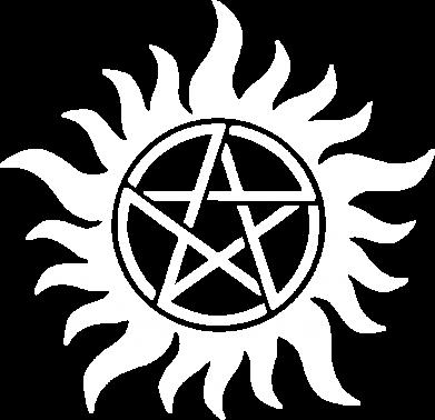 Принт Тельняшка с длинным рукавом Сверхъестественное Star - FatLine