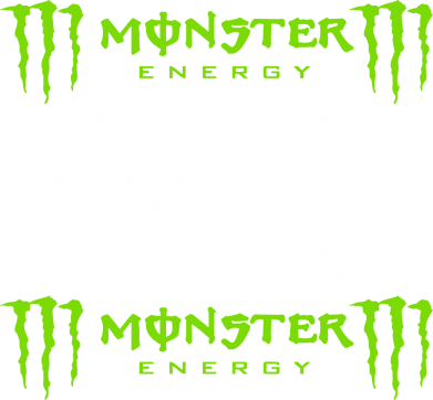 Принт Футболка Поло Monster Energy DC Logo - FatLine