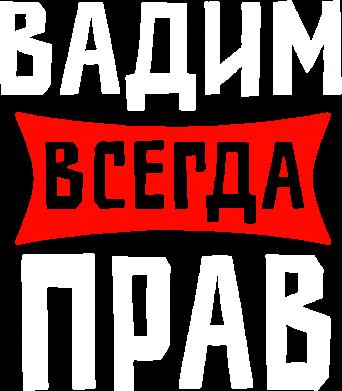 Принт Мужские шорты Вадим всегда прав - FatLine