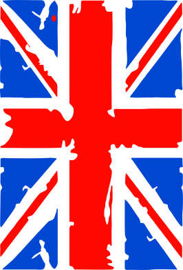 Принт Футболка с длинным рукавом Британский флаг - FatLine