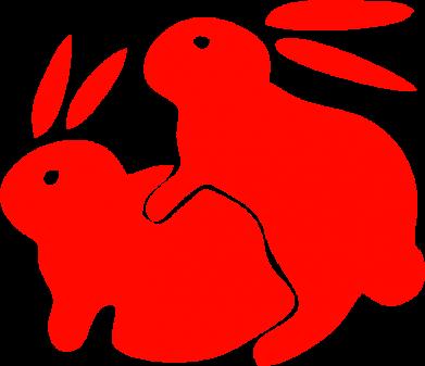Принт Подушка Кролики - FatLine