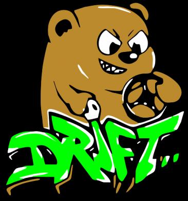 Принт Женская майка Drift Bear - FatLine