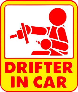 Принт Реглан Drifter in Car - FatLine