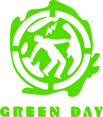 Принт Толстовка Green Day Logo - FatLine