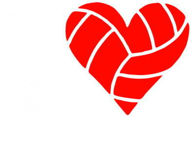 Принт Майка-тельняшка I love volleyball - FatLine