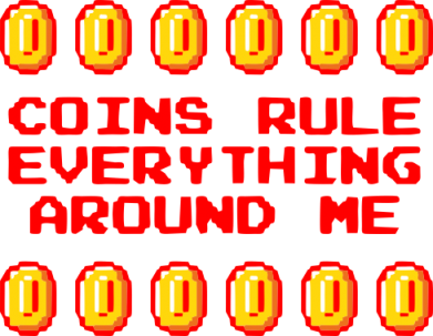 Принт Реглан (свитшот) Coins rule everything around me - FatLine