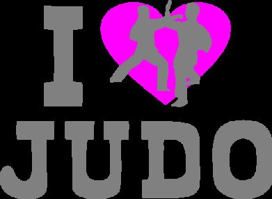 Принт Женская футболка I love Judo - FatLine