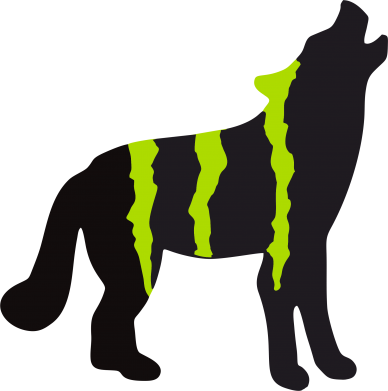 Принт Футболка Поло Monster Energy Wolf - FatLine