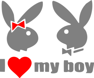 Принт Штаны I love my boy - FatLine