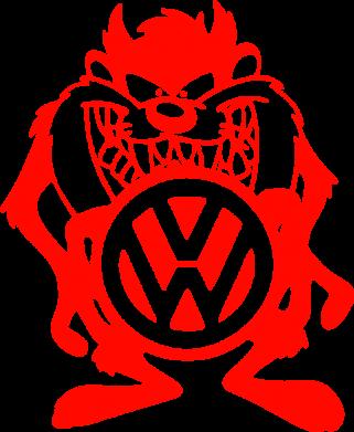 Принт Женская майка Тасманский дьявол Volkswagen - FatLine