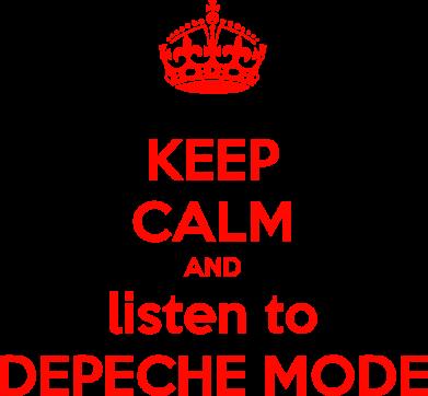 Принт Женская майка KEEP CALM and LISTEN to DEPECHE MODE - FatLine