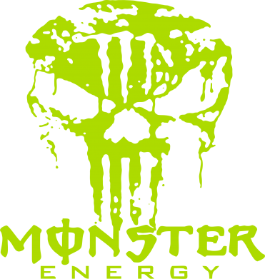 Принт Женская толстовка Monster Energy Череп - FatLine