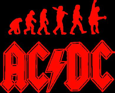 Принт Футболка Эволюция AC\DC - FatLine