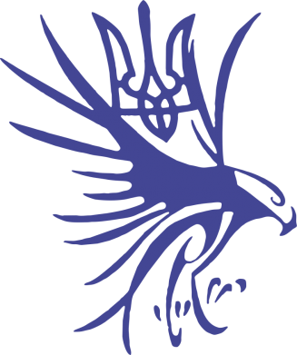 Принт Кружка 320ml Сокіл та герб України - FatLine