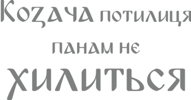 Принт Подушка Козача потилиця панам не хилиться - FatLine