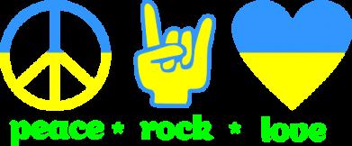 Принт Мужская майка Peace, Rock, Love - FatLine