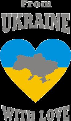 Принт Коврик для мыши З України з любовью - FatLine