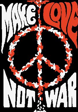 Принт Мужская толстовка на молнии Make love, not war - FatLine